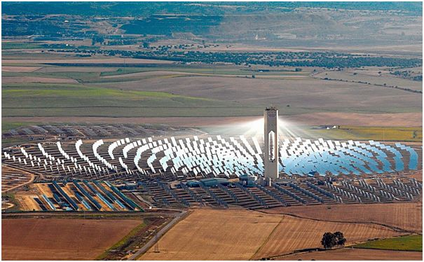 Figure 6 – Abengoa's Power Tower near Seville, Spain.