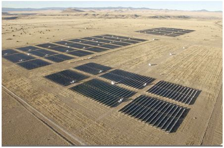 Figure 7 – A 4.6-megawatt solar farm in Springville USA occupying some 10 hectares.