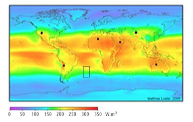 Figure 1 – Global horizontal irradiation levels