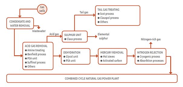 Typical natural gas processing plant[1]