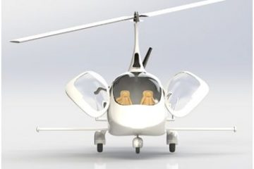 AutoGyro's modified Cavalon gyrocopter fitted with a sensory boom