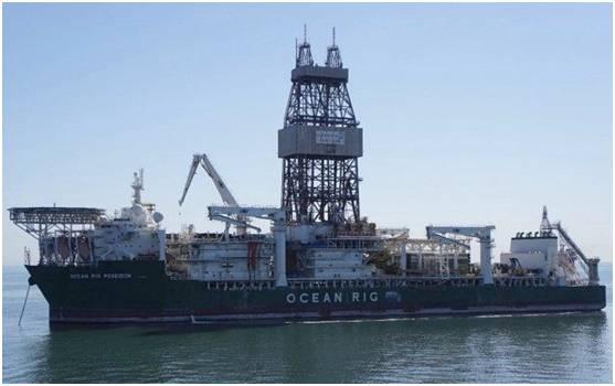 Ocean Rig Poseidon exploring offshore Namibia